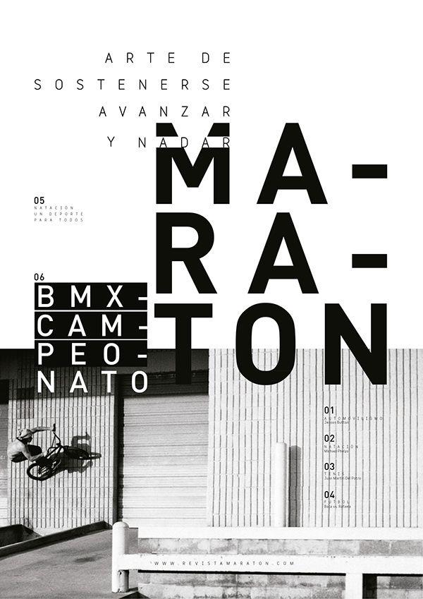 MARATÓN. PUBLICACIÓN DEPORTIVA on Behance
