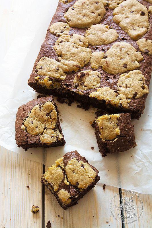 Menta e Cioccolato: Chocolate chip cookie BROWNIES una roba, ma una roba....