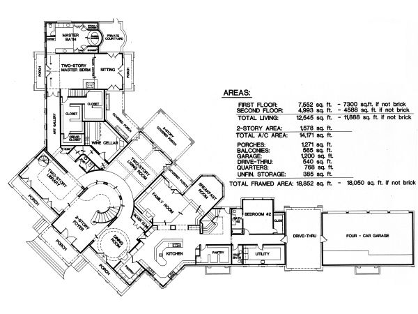 Unique house plans home designs free blog archive Large estate home plans