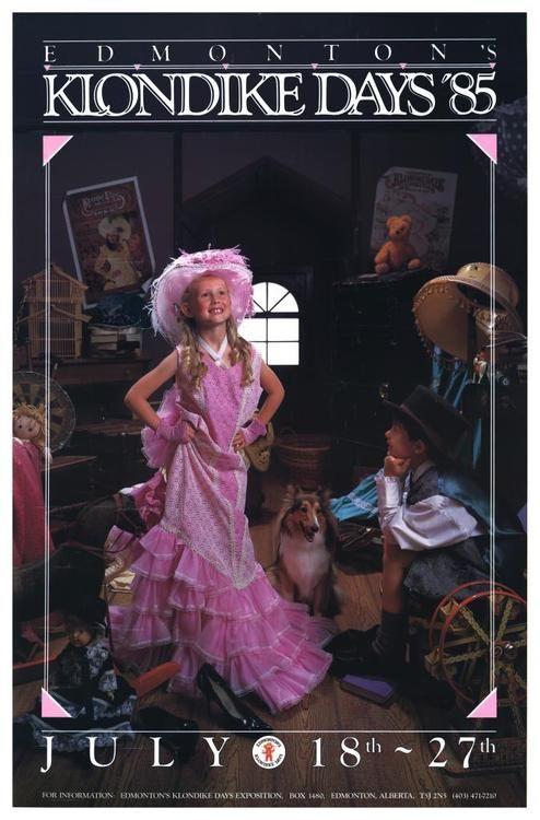 1985 Klondike Days poster, Edmonton, AB.