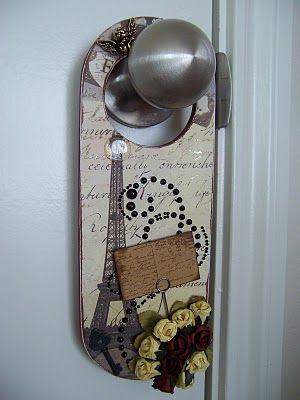 paris inspired door hanger