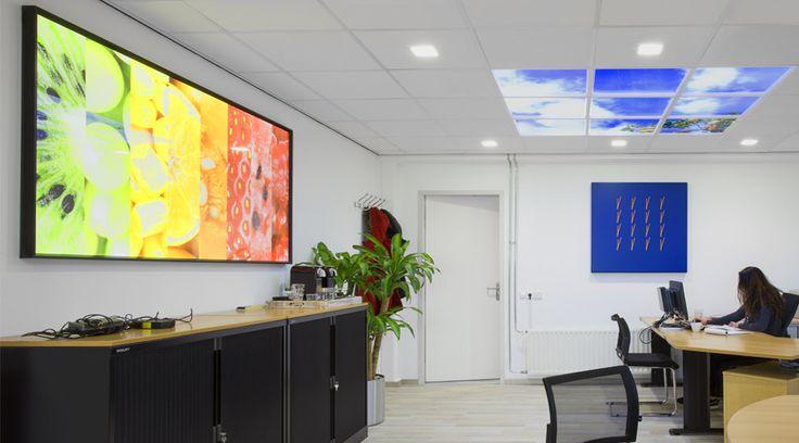 Kobus Personeel - Barendrecht | Lumick Standard   www.lumick.com    Interior Design - Healing Environment - Office Design - Healing Office  #skyceiling #skypanel #cloudceiling #wolkenplafond #fotoplafond
