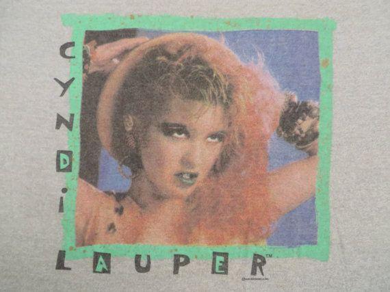 CYNDI LAUPER original vintage 1984 tour TSHIRT