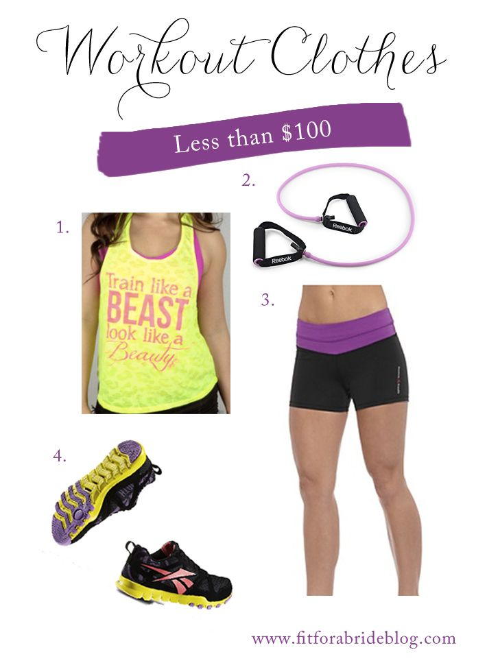 Purple workout clothes - reebok/crossfit-inspired
