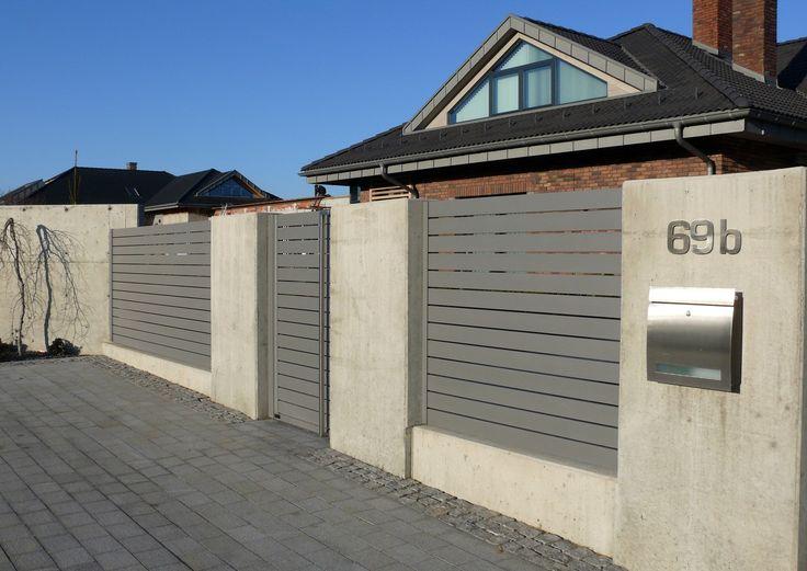 ogrodzenie beton architektoniczny nowoczesny wzór