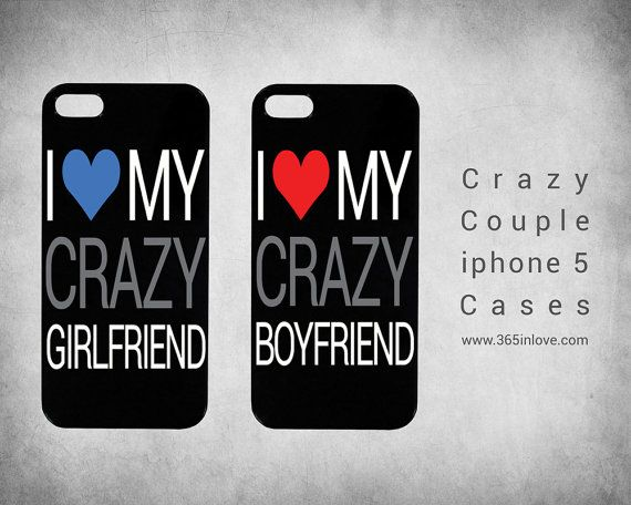 Cute Matching Couple I Love My Crazy Boyfriend by 365inlovedotcom, $14.99