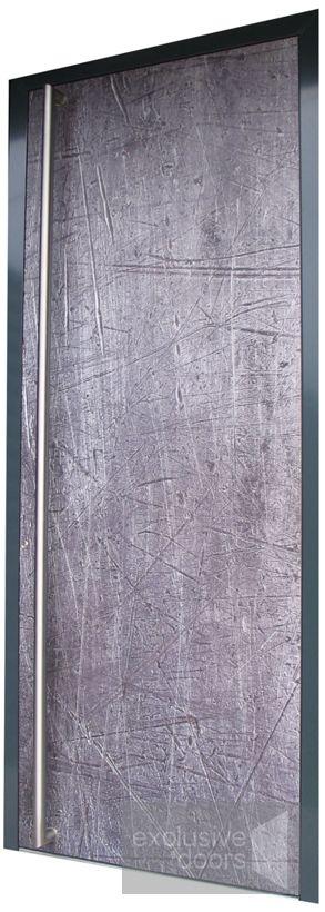 Aluminium Entrance Door imitating rough concrete