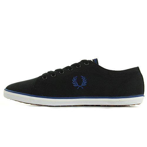 Fred Perry Kingston Twill Black B6259U198, Herren Sneaker - http://on-line-kaufen.de/fred-perry/fred-perry-kingston-twill-black-b6259u198-herren