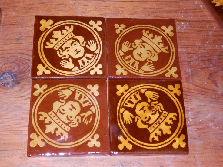 Kings- replica inlaid medieval tiles by Tanglebank Tiles