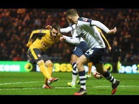 Preston vs Arsenal 1:1[Aaron Ramsey Goal] - 07/01/2017 HD