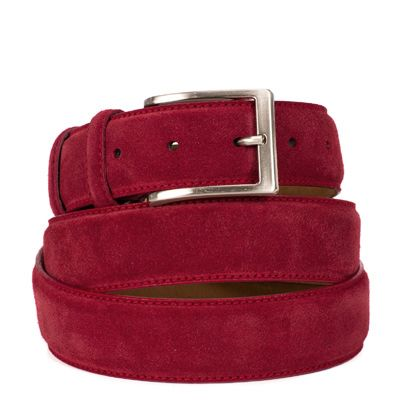 Suede riem: Amsterdam Red by ColorMeSocks™