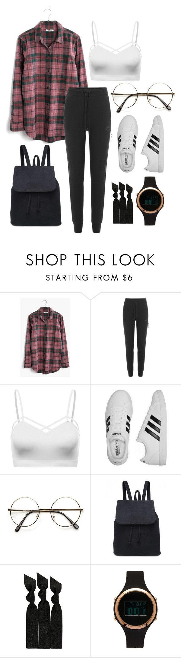 """""""casual.0.29"""" by joannachavez8 on Polyvore featuring Madewell, NIKE, adidas, ZeroUV, Emi-Jay and Aéropostale"""