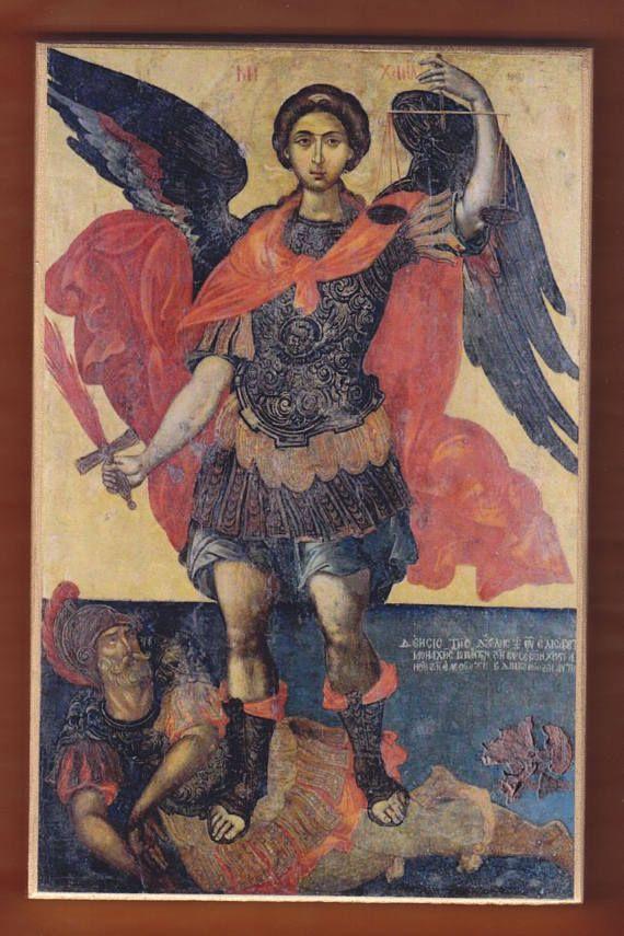Archangel Michael Elias MoskosCretan painter of Rethymno 17