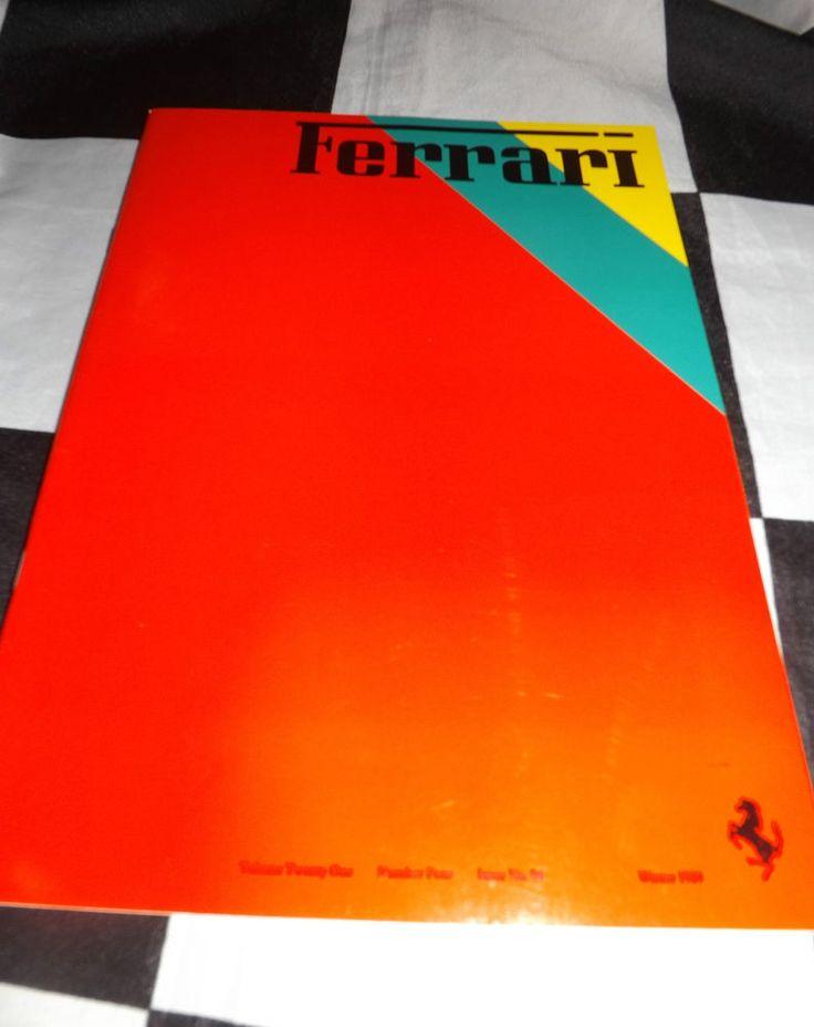 FERRARI OWNERS CLUB MAGAZINE WINTER 1989 # 84 FERRARI 308 GTB CONCESSIONAIRES RJ
