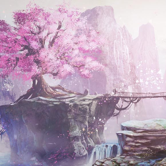 Sakura Mountain Wallpaper Engine Landscape Wallpaper Mountain Wallpaper Wallpaper