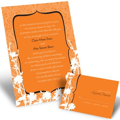 17 Best Images About Orange Wedding Invitations On