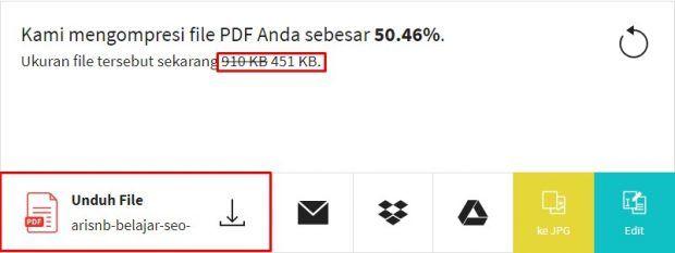 Cara Kompres File Pdf Menjadi Kecil 100 Kb 200 Kb 300 Kb 400 Kb Atau 500 Kb Secara Online Belajar Aplikasi Website