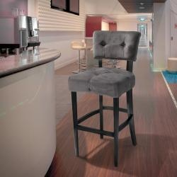 Mariana Grey Velvet Barstool By Christopher Knight Home By