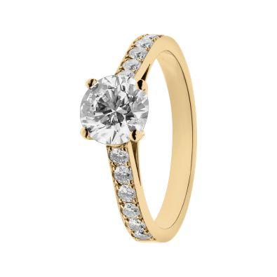 Anello con diamanti Sydney oro giallo | Anelli con diamanti RenéSim