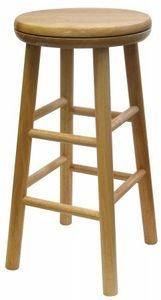 """Windsome Trading Inc 24"""" Natural Swivel Bar Stool Sold in packs of 2"""