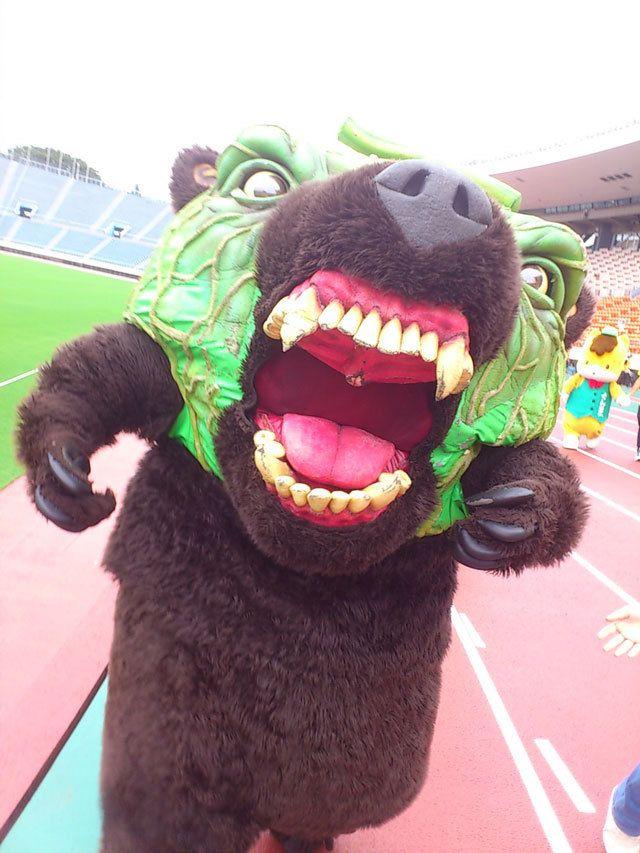 "Melon Kuma ""Melon Bear,"" the official mascot of Yu-bari Melon (the most popular Japanese melon) from Hokkaido prefecture"