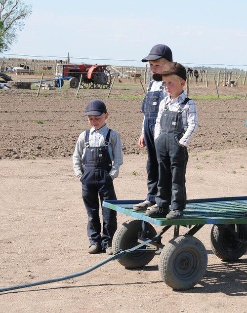Children from the amish community in Guatraché (Chicos de la colonia amish en Guatraché)   La Pampa   Argentina