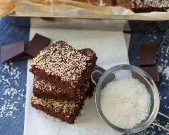 Brownies à la noix de coco : http://www.cuisineaz.com/recettes/brownies-a-la-noix-de-coco-30422.aspx