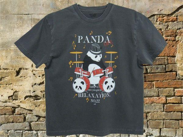 【 PANDA Drummer】ストーンウォッシュグレー画像1