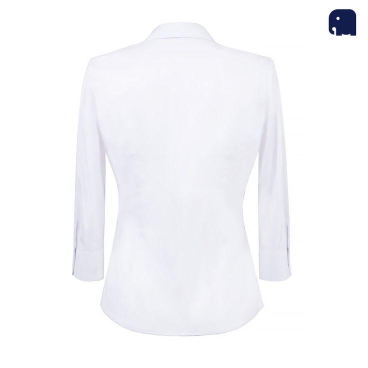 Biała klasyczna koszula damska MyElphi / White classic woman shirt by MyElphi