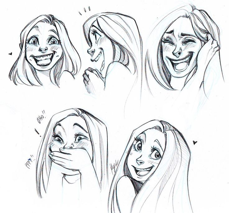 Laughing and Smiling Faces by Myed89 on deviantART  I love these expressions :D