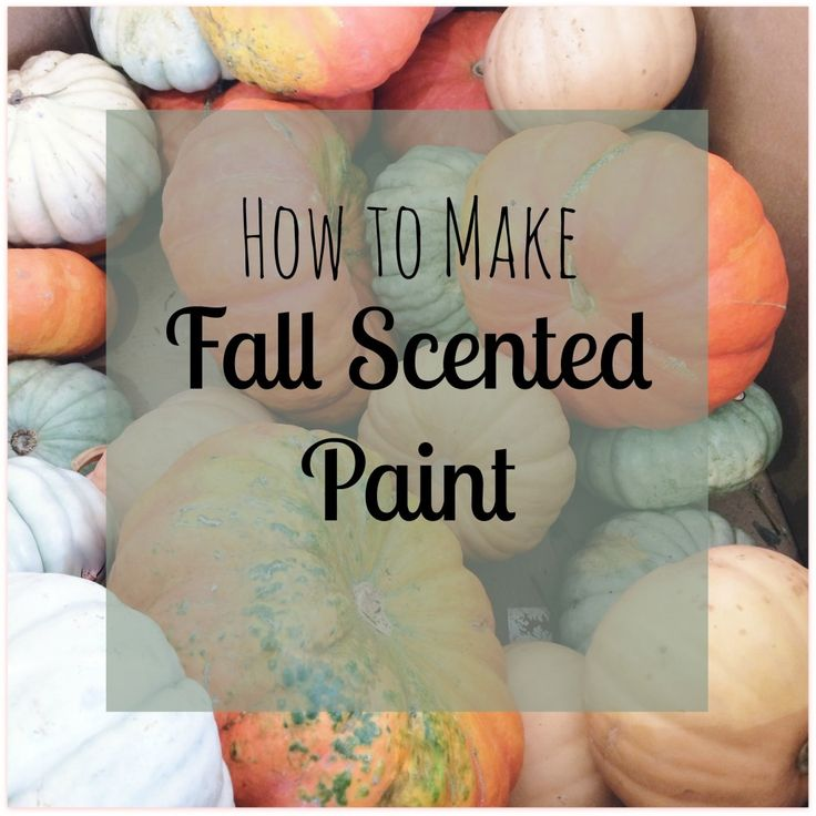 How to Make Fall Scented Paint #artsandcrafts #kidsactivity #fall | mybigfathappylife.com