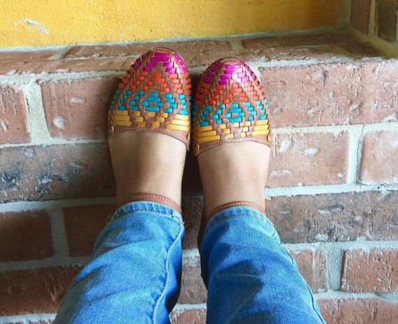 Huaraches Natural Spring Mexican Huaraches by thecatrinastore