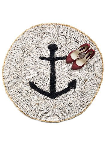 Porch and Starboard Rug - Tan, Tan / Cream, Nautical, Better, Novelty Print