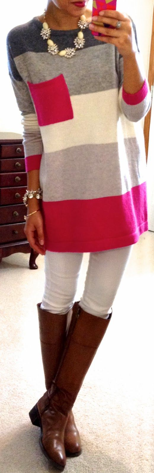 It's casual outfit. Maybe for work on Fridays in spring? Possibly minus the boots?