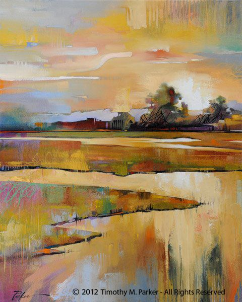 Mill Creek North East - Abstract Landscape Fine Art Print — Contemporary Fine Art Prints, Modern Landscape and Seascape Painting