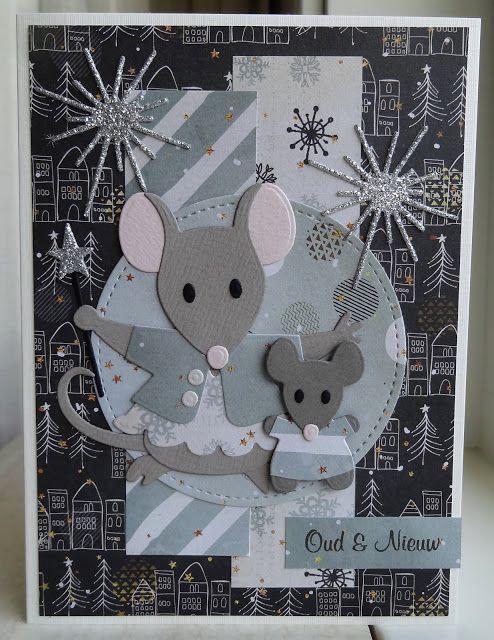 Новогодняя открытка своими руками год мыши