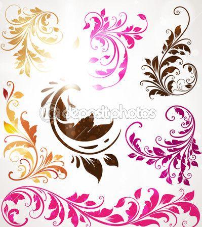 руки drawn цветочный фон с цветами, открытки вектор для ретро-дизайн — Векторная картинка #15478233