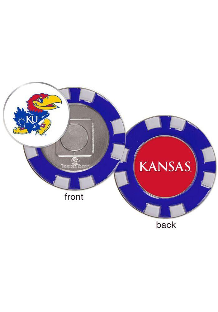 Kansas Jayhawks Poker Chip Golf Ball Marker 10130814 Ball Markers Golf Ball Markers Golf Ball