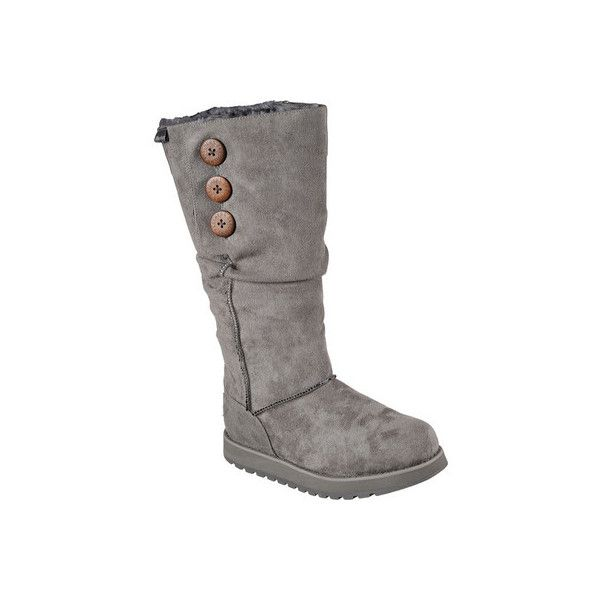 Women's Skechers Keepsakes Freezing Point Slouch Boot - Charcoal... ($73) ❤ liked on Polyvore featuring shoes, boots, black, casual, winter boots, black slouch boots, slouch boots, slouchy black boots, mid calf winter boots and black pointed boots