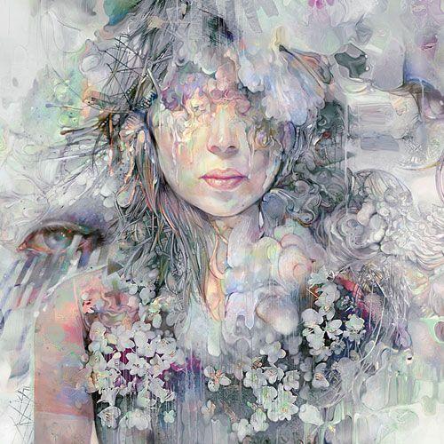 cool: Album Covers, Oil Paintings, Ice Queen, Digital Paintings, The Artists, Color, Digital Art, Flower, Eye