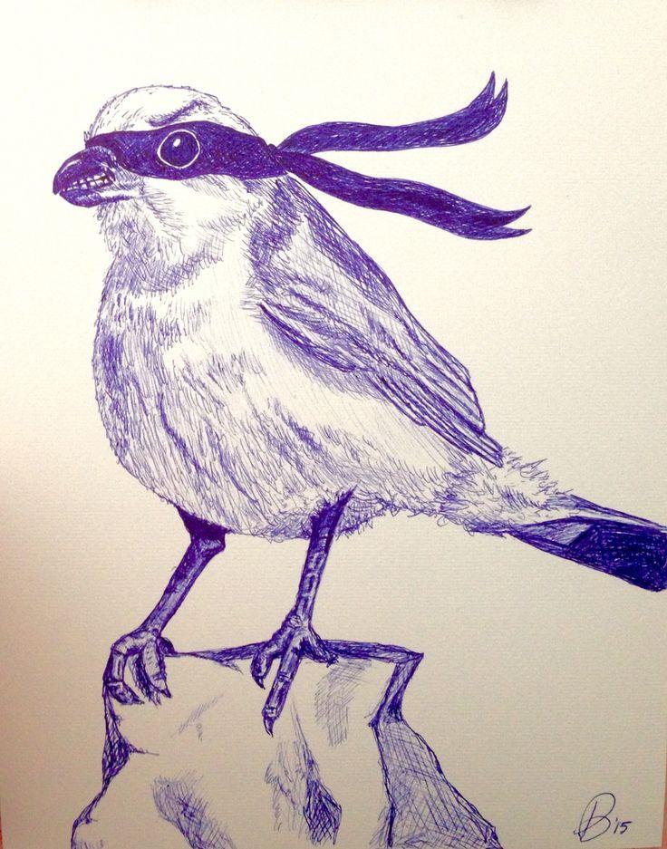Pen art bird