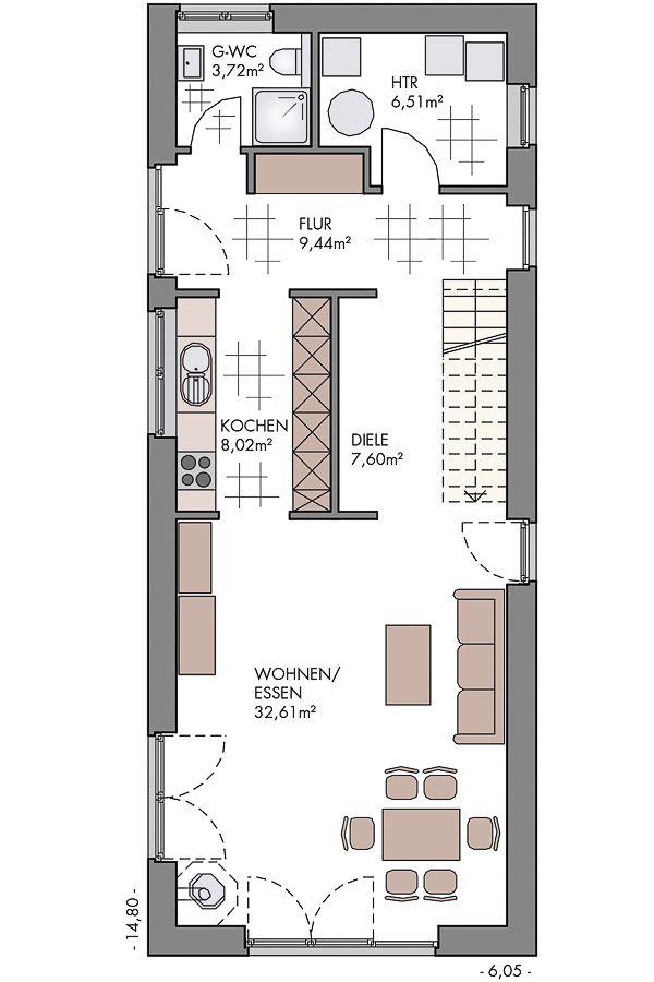 Flexibles Stadthaus auf kleinem Grundstück – ECO …