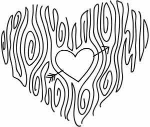 Woodgrain Heart Pattern - gorgeous!  @Studio Calico (SwannPrincess): Heart Patterns, Woodgrain Heart, Embroidery Patterns, Embroidery Heart, Heart Embroidery, Heart Design, Urban Thread, Wood Grain, Embroidery Beautiful Skirts