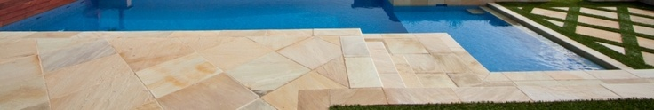 You can get three main categories of sandstone pavers - Desert Sand, Pink Blush and Golden Dunes. Each of them is cut and finished with a look that is meant to suit both classis and modern property exterior.