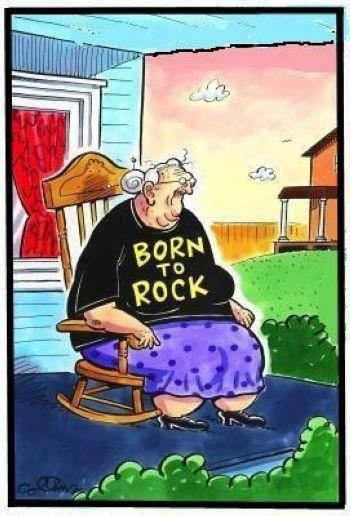 Funny Born To Rock Grandma Cartoon | Funny Joke Pictures