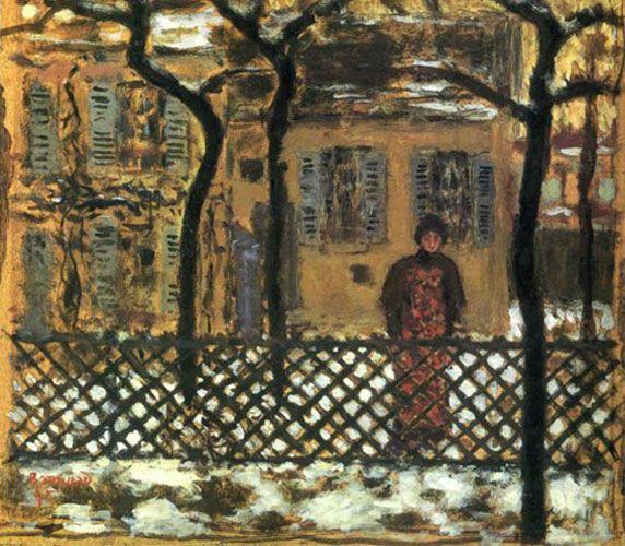 Пьер Боннар. «За забором». 1895 г.