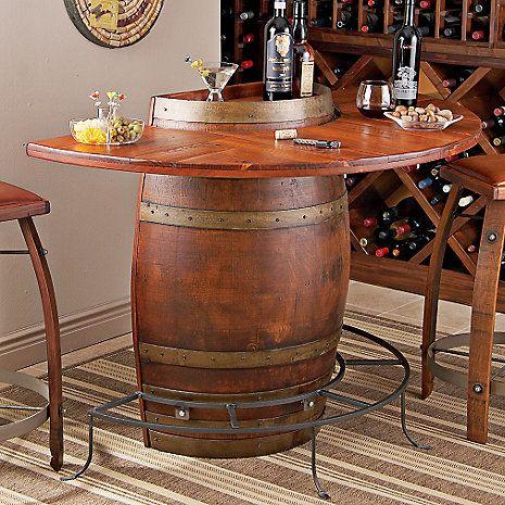 Vintage Oak Half Wine Barrel Bar at Wine Enthusiast - $795.00