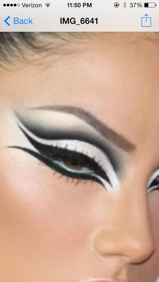 Possible cat woman eye makeup?                                                                                                                                                                                 More