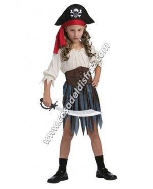 Disfraz de Moza pirata para niña. #Disfraces #Carnaval #DisfracesBaratos www.casadeldisfraz.com