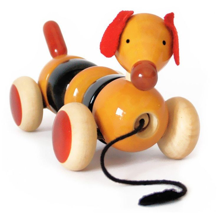 Bovow (Red) Wooden Toy